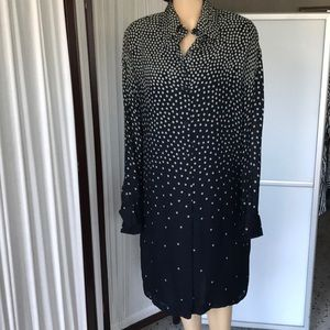Linda Allard by Ellen Tracy blouse dress 100% Silk